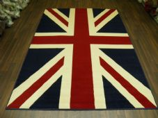Modern Approx 6x4 120x170cm Woven Backed Union Jack Red/white/Blue Quality rug
